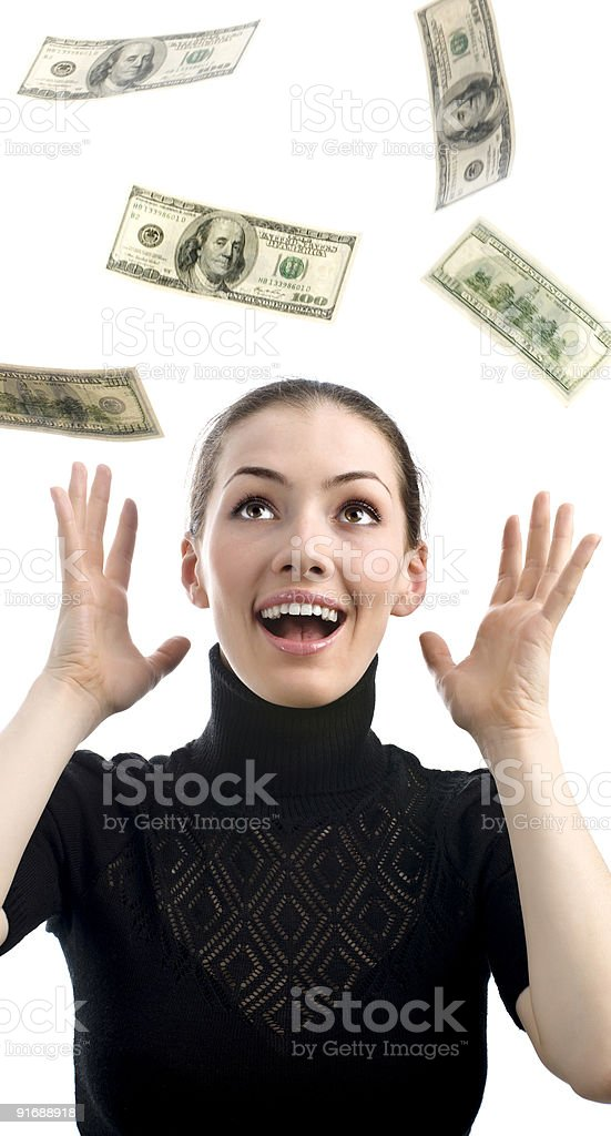 strewing with money royalty-free stock photo