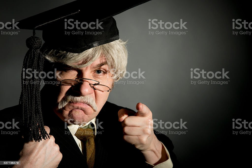 Strict Headmaster stock photo