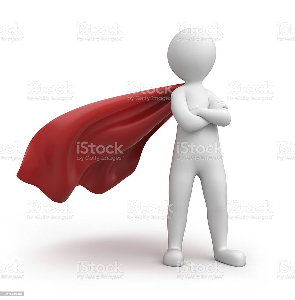 strict superman royalty-free stock photo