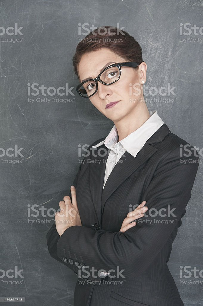 Strict teacher royalty-free stock photo