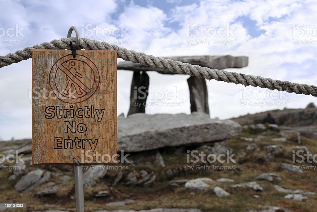strictly no entry sign at historic site royalty-free stock photo