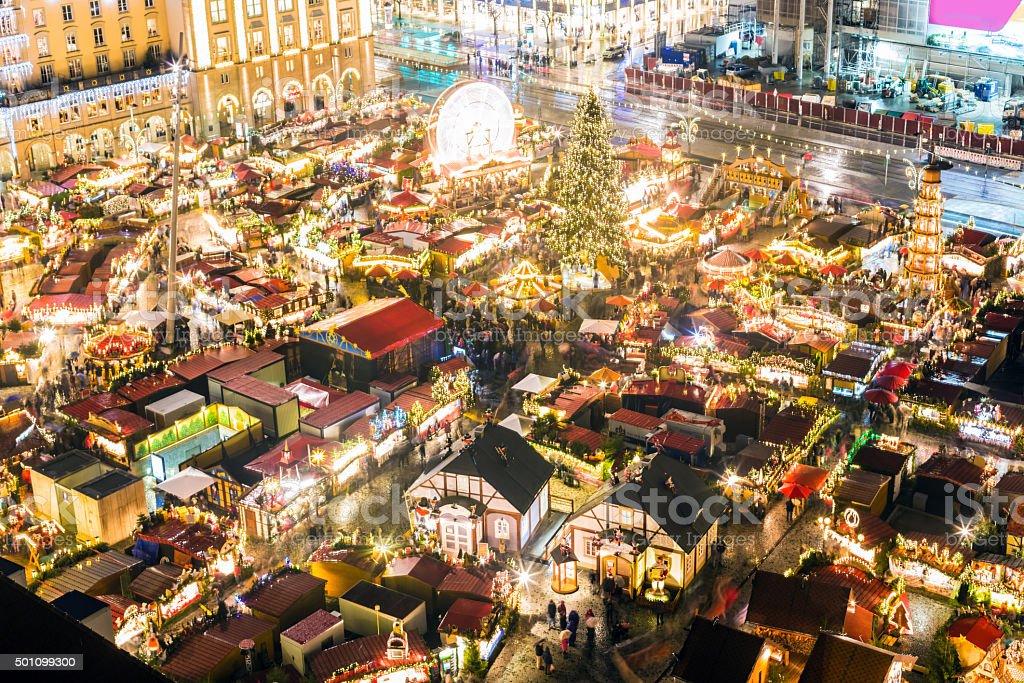 'Striezelmarkt', Christmas Market in Dresden stock photo