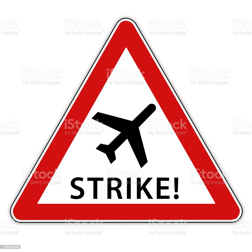Strike at the airport stock photo