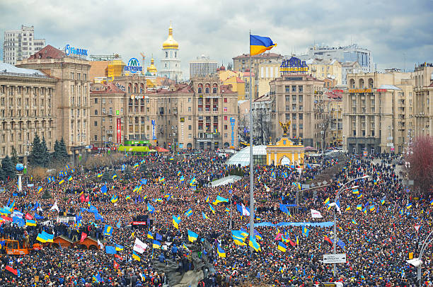 Strike on the Independence square in Kiev Kiev, Ukraine. December 1, 2013.  2013 stock pictures, royalty-free photos & images