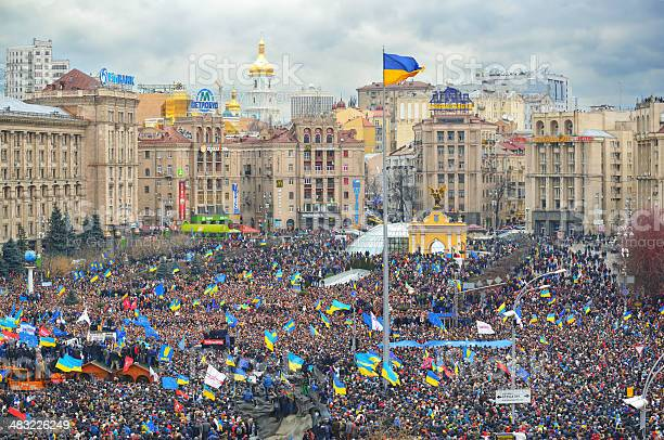 Strike on the Independence square in Kiev