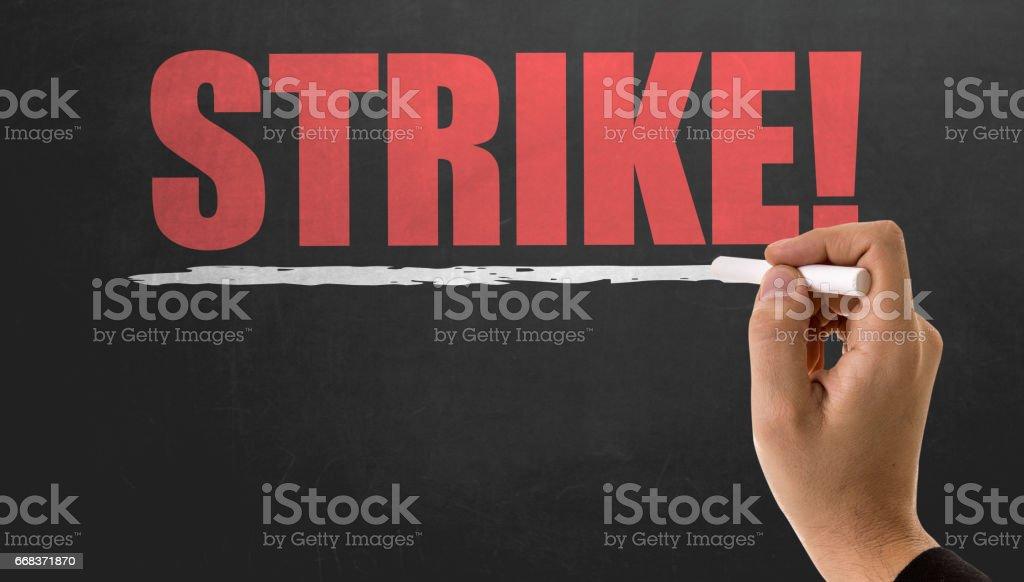 Strike! stock photo