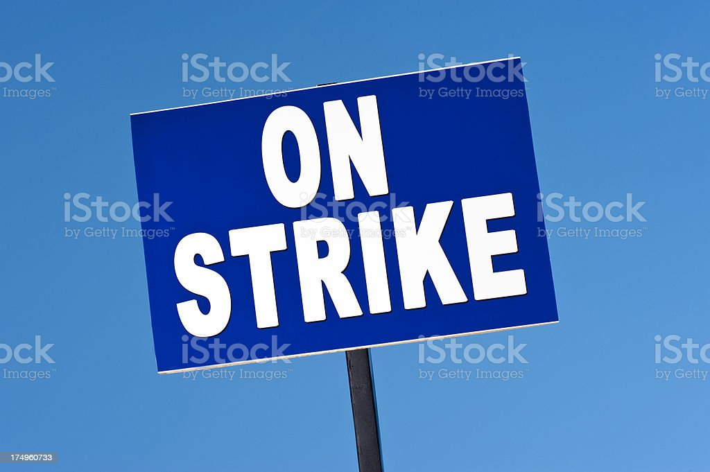 Strike Sign stock photo