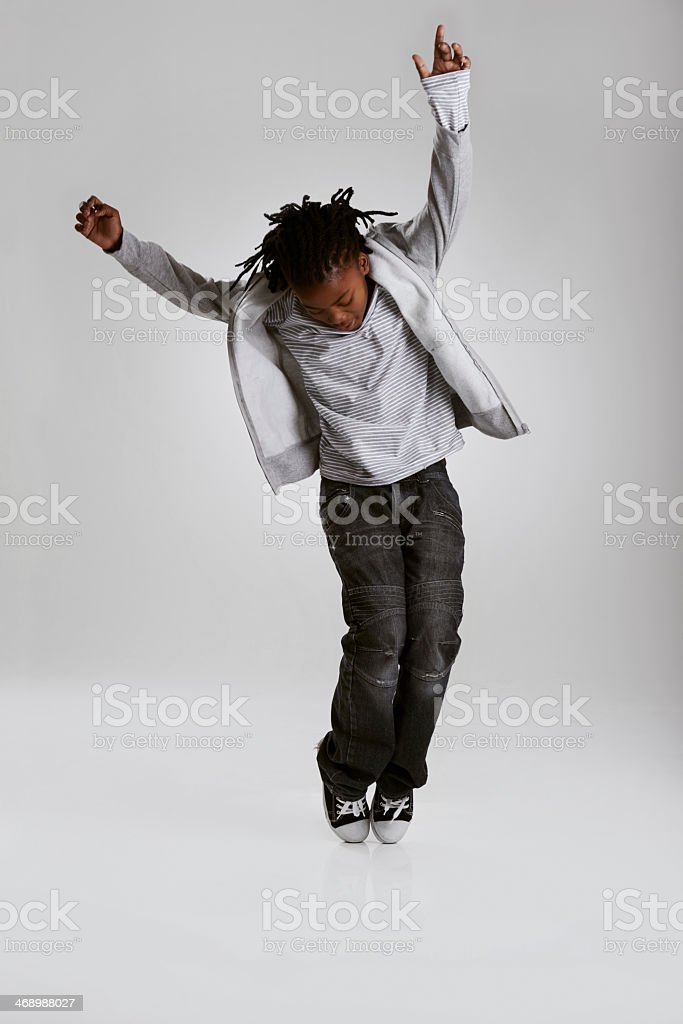 Striking a hip hop pose stock photo