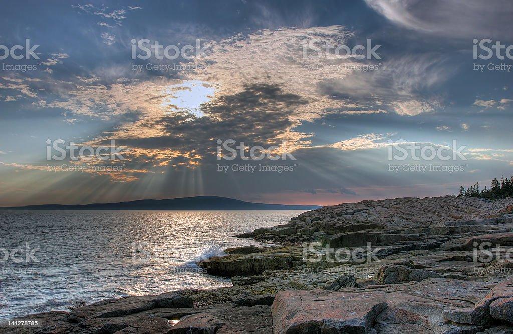 Striking Maine coastline landscape royalty-free stock photo