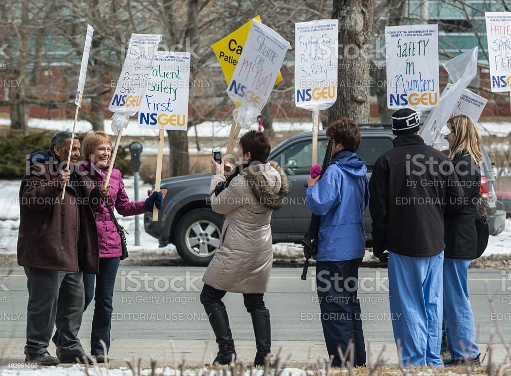 Striking NSGEU Nurses take Photo stock photo