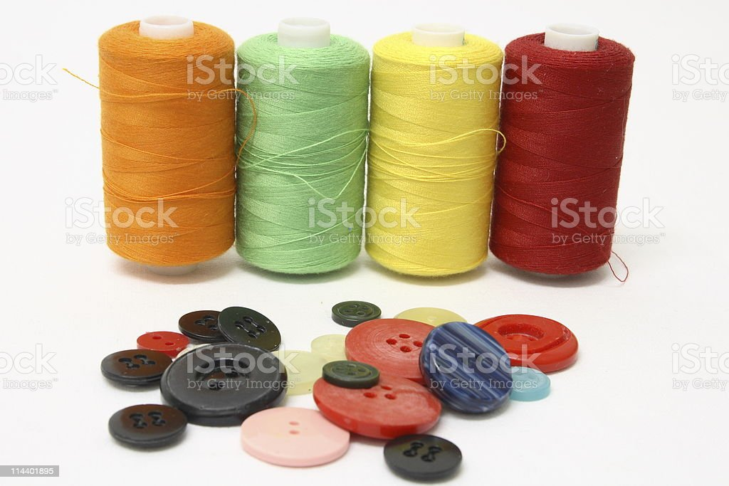 String and Buttons royalty-free stock photo