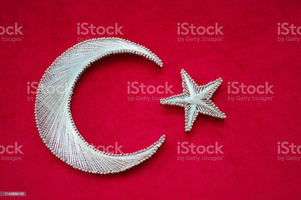 string art, a motif designed in the form of Turkish Flag