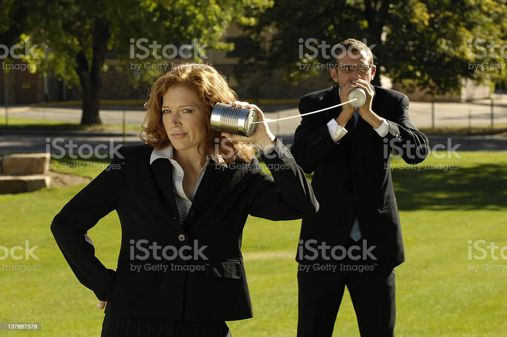 String- Can Telephone, royalty-free stock photo