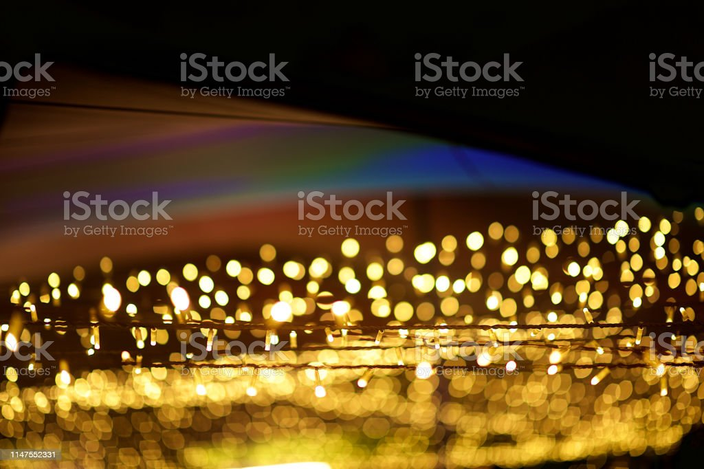 Image of: String Fairy Lights At An Outdoor Tent Defocussed Bokeh Stock Photo Download Image Now Istock