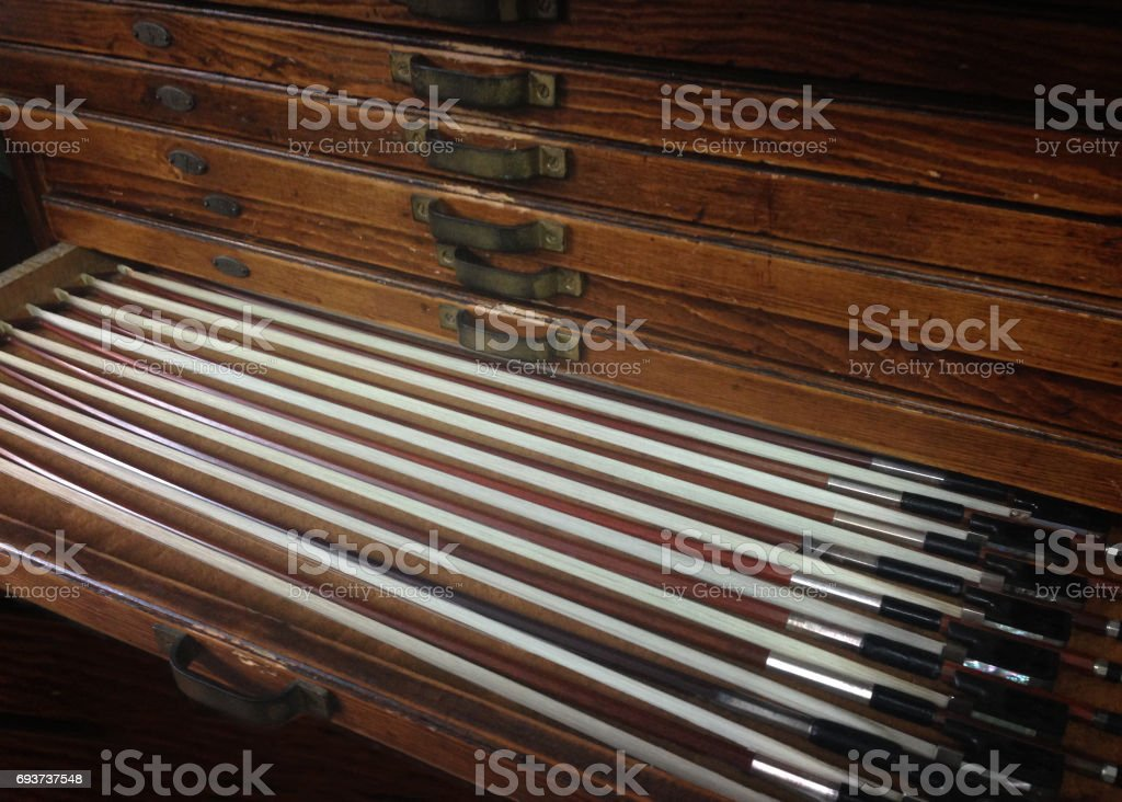 String Instrument Bows stock photo