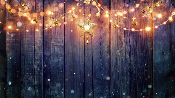 Best Vintage Christmas Lights Stock Photos Pictures