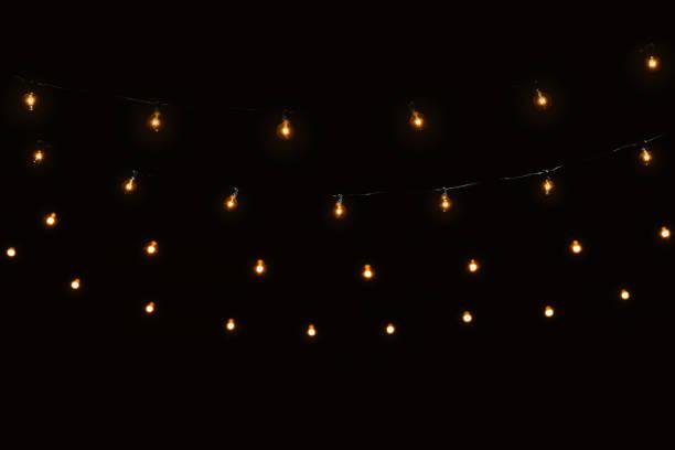 zeichenfolge lichter glas lampen girlande - terrassen lichterketten stock-fotos und bilder