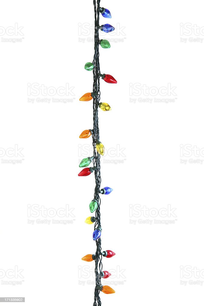 String of Christmas Lights stock photo