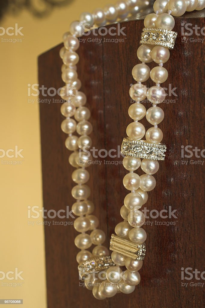 String of Pearls necklace royalty-free stock photo