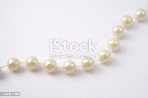 costume jewellery, shiny and white.