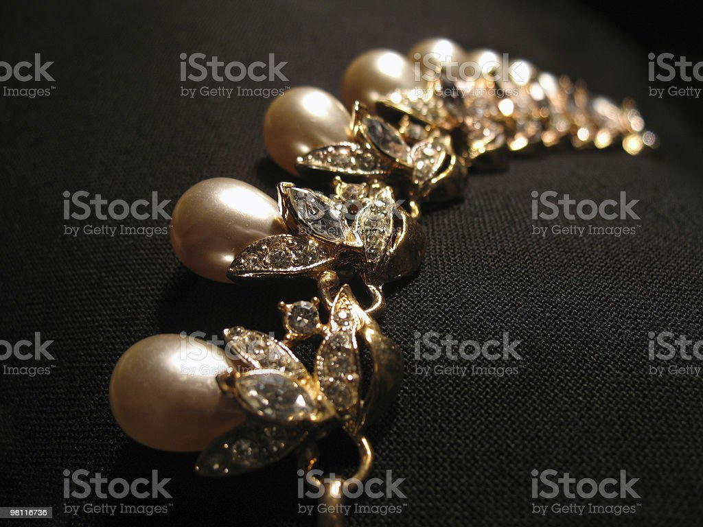 string of pearls royalty-free stock photo