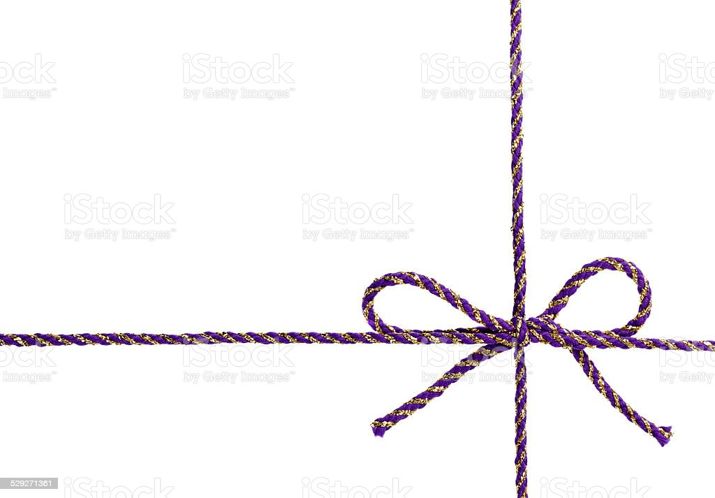 string or tape tied in a bow isolated stock photo