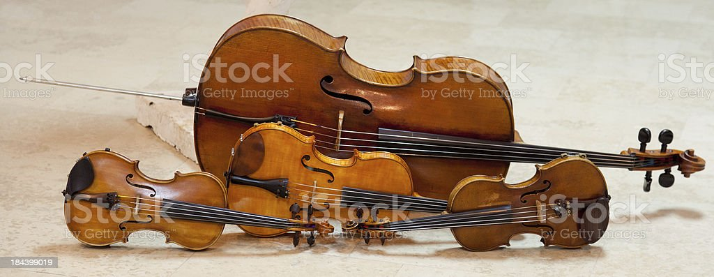 String quartet instruments stock photo