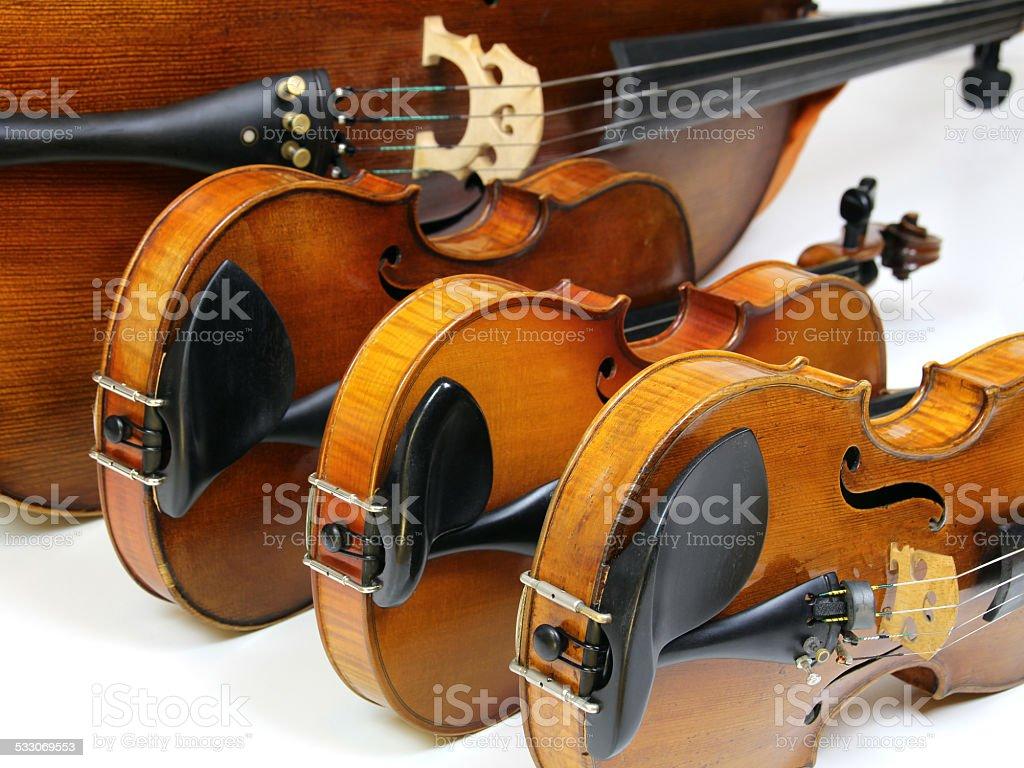String Quartet - Violins, Viola, and Violoncello stock photo