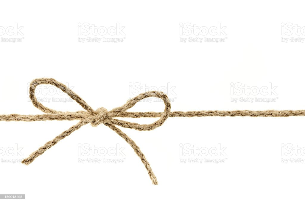 String tied in a bow stock photo