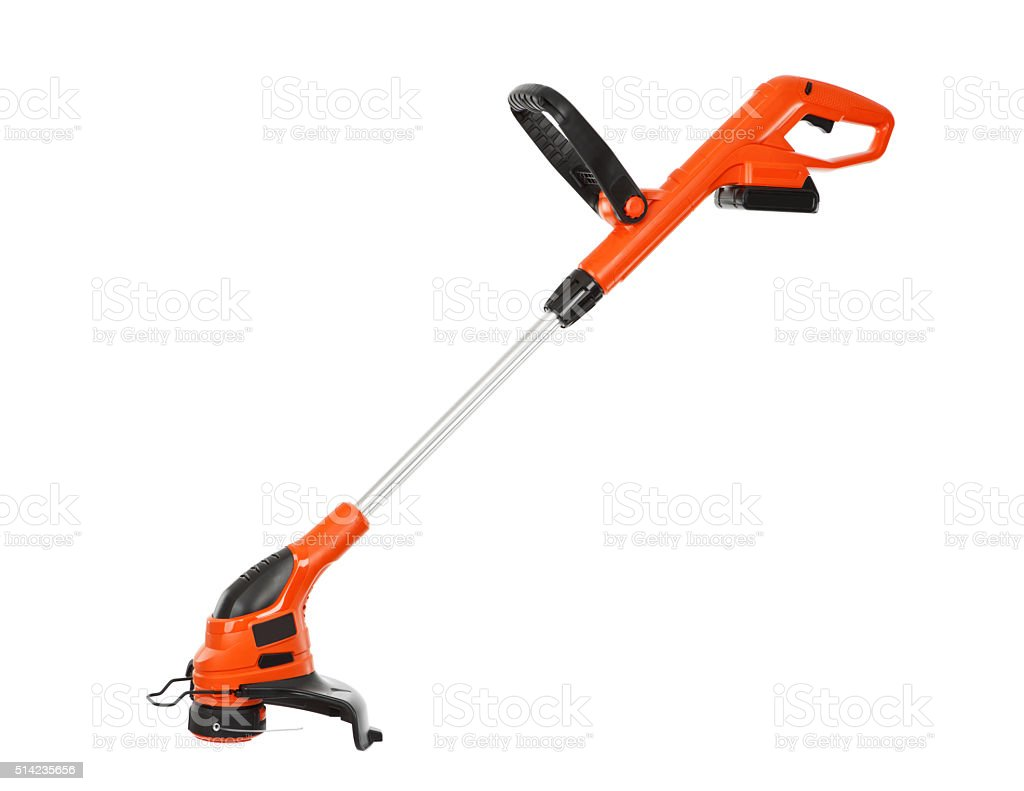 String Trimmer Close-up Isolated on White stock photo