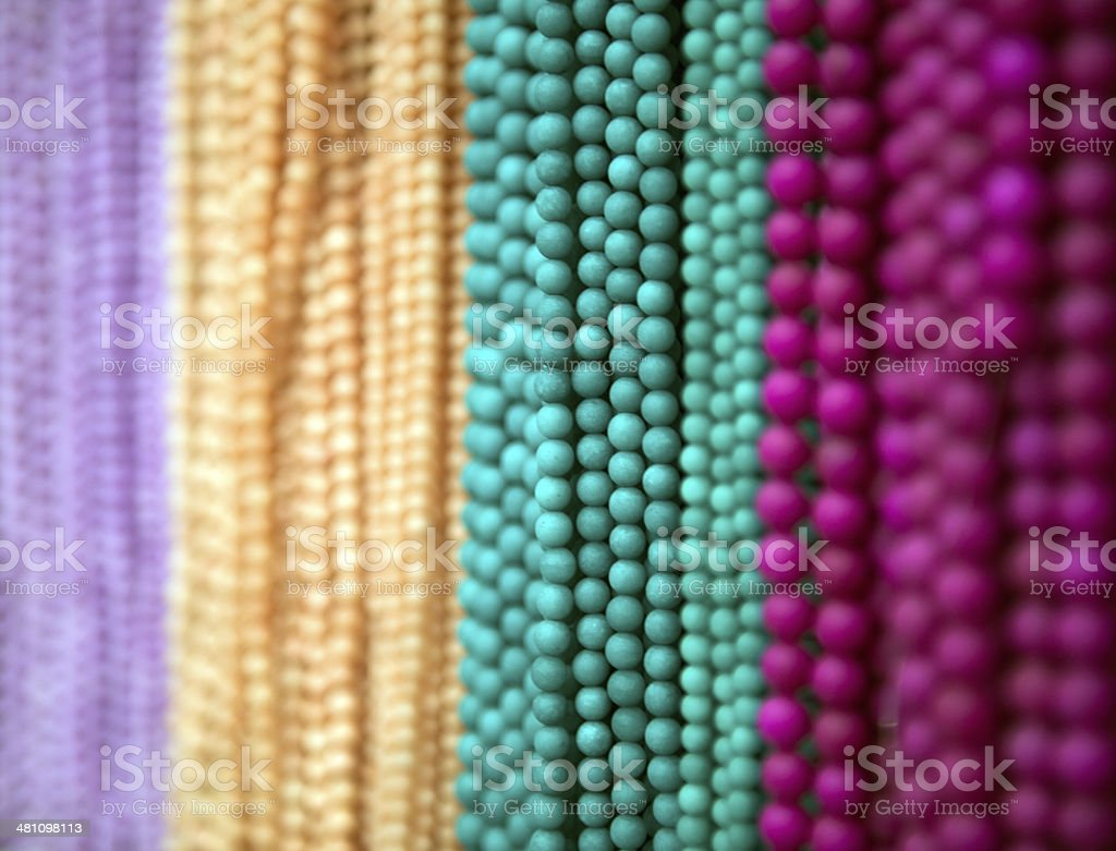 Strings beads royalty-free stock photo