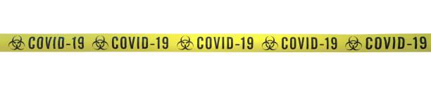 Streifen COVID-19 Linie – Foto