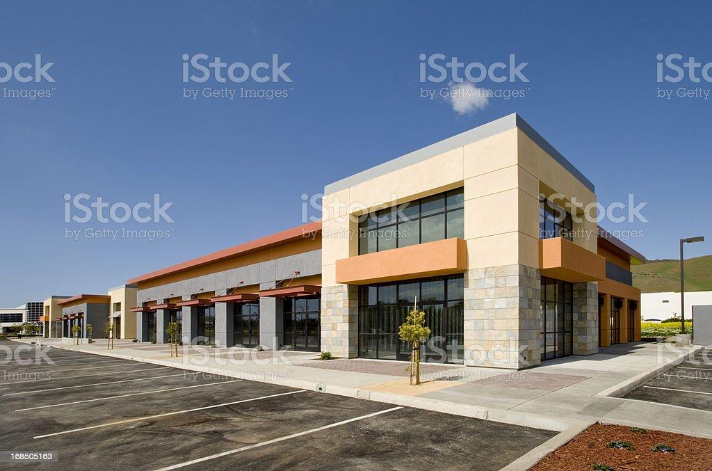 Strip Mall, California stock photo