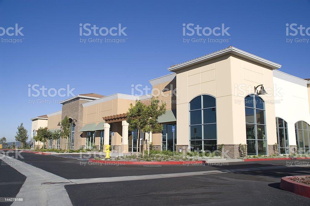 Strip Mall stock photo