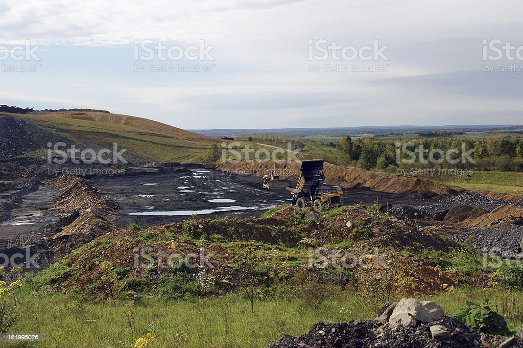 Strip Mining for Coal in Pennsylvania royalty-free stock photo
