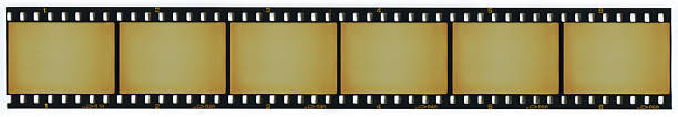 Strip of blank 35mm film frames Strip of 6 blank 35mm film frames negative image technique stock pictures, royalty-free photos & images