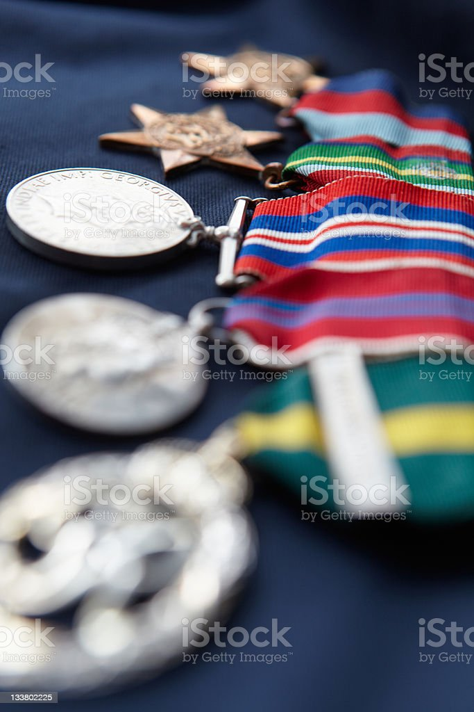 Strip of medals stock photo