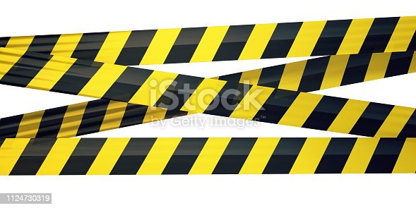 3d render Strip Tape (isolated on white and clipping path)