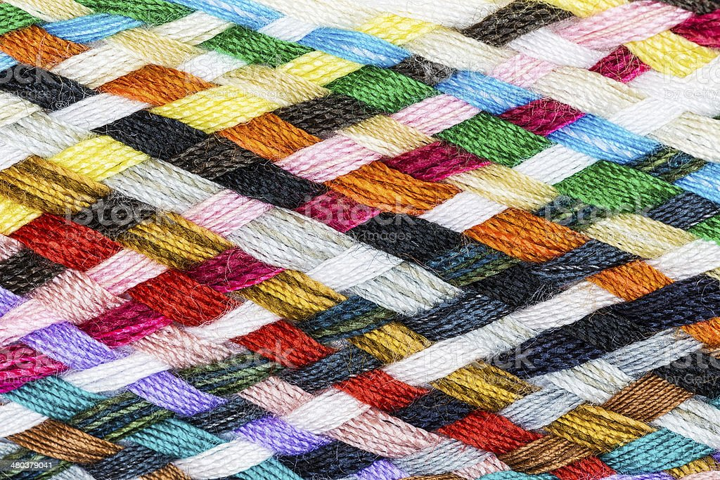 Strip woven cotton multicolored stock photo