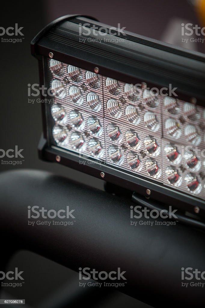LED stripe on car stock photo