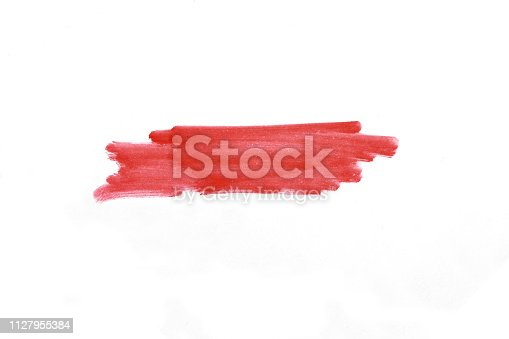 istock Stripe with a marker over white background 1127955384