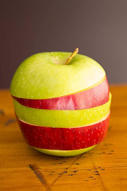 Striped Apple stock photo