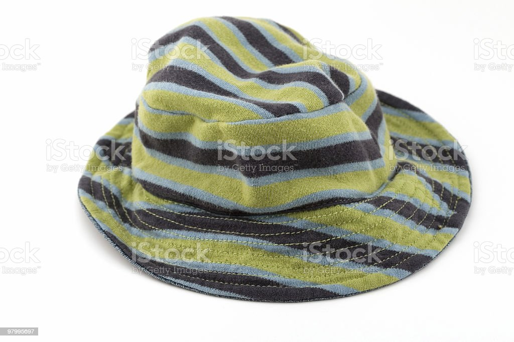 Striped baby hat royalty-free stock photo