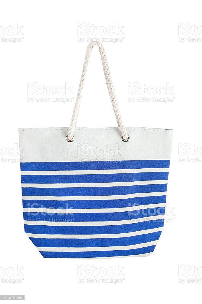 Listrado bolsa de praia - foto de acervo