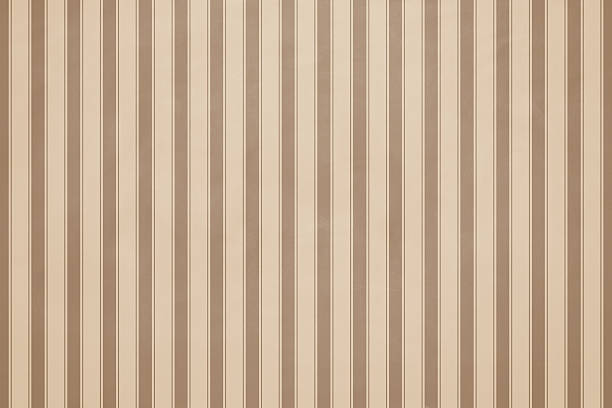 Mur papier rayé de beige - Photo