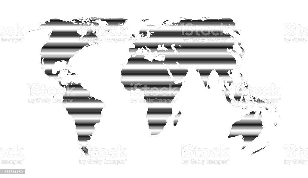 Striped black world map on light blue background stock photo more striped black world map on light blue background royalty free stock photo gumiabroncs Images