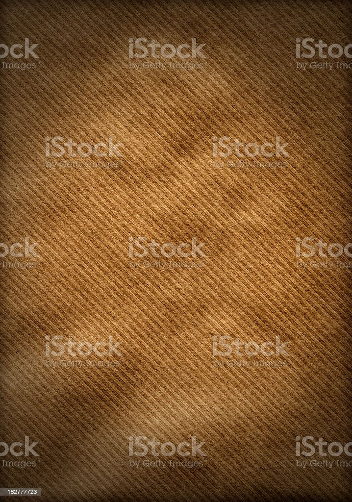 Striped brown paper background stock photo