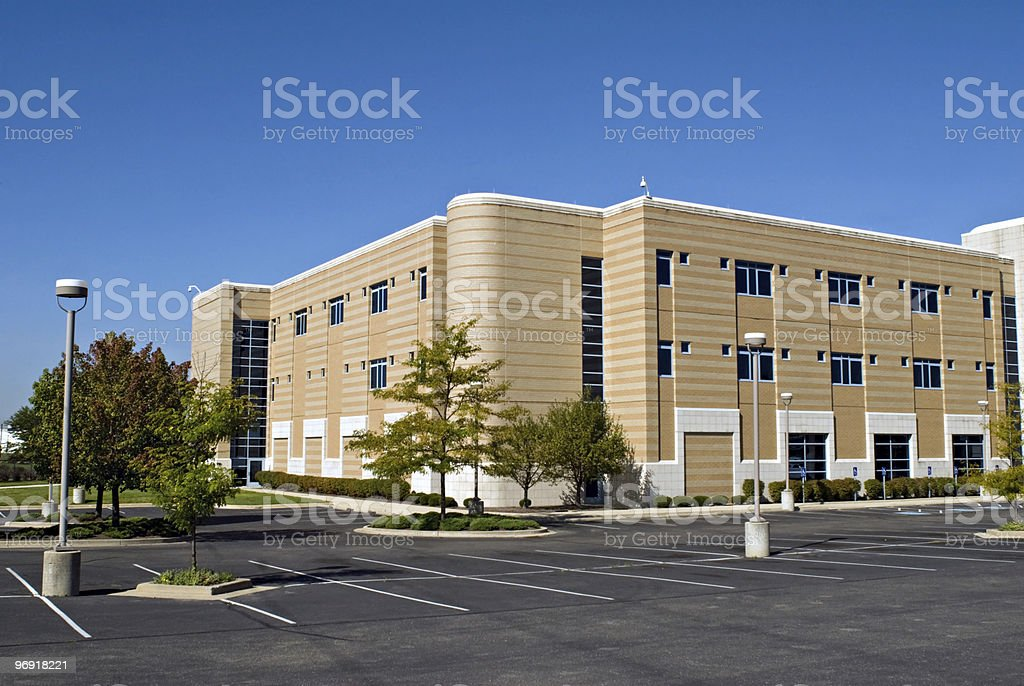 Striped Building royalty-free stock photo