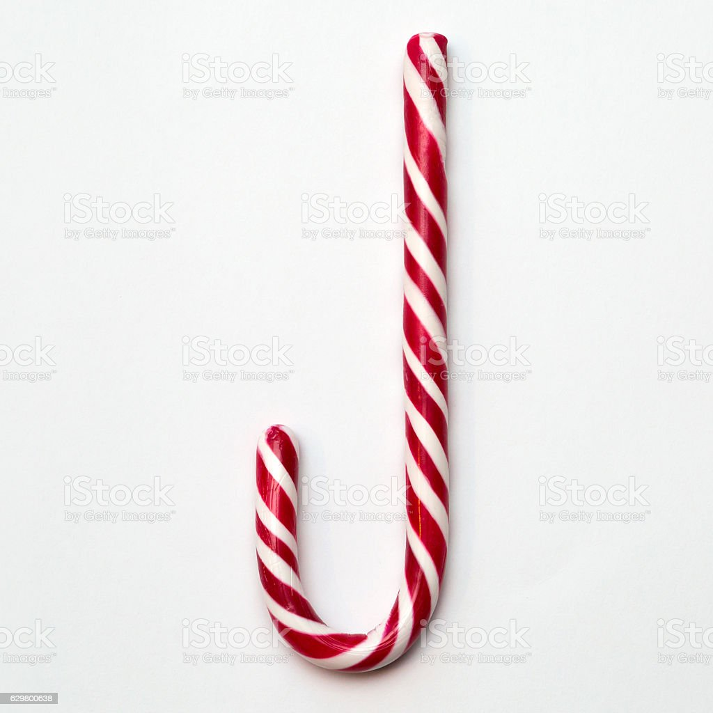 Striped Candy Cane stock photo