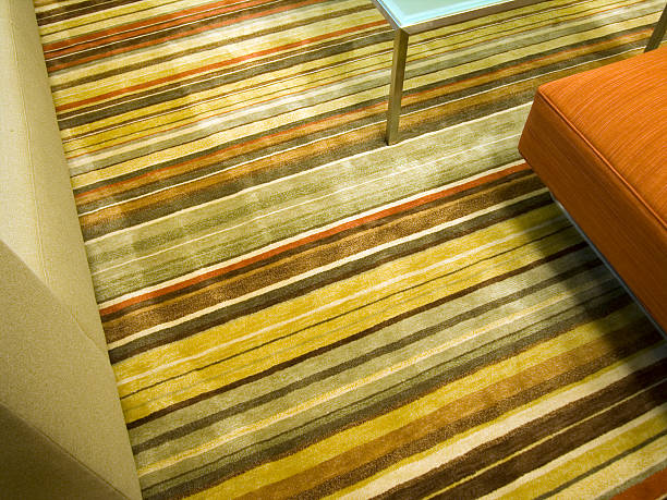 Striped Carpet stock photo